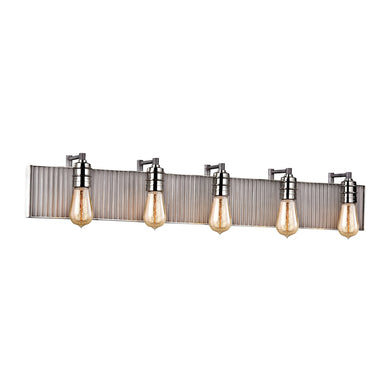 ELK Lighting,15924/5,Vanity Light,Corrugated Steel,5 Light