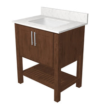 "Load image into Gallery viewer, Bertch Bath 24"" FVC24 Interlude Open Shelf Vanity in Mocha"