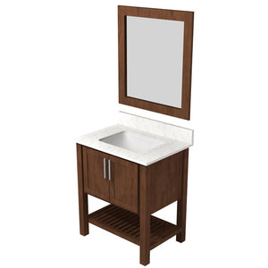 "Bertch Bath 30"" FVC30 Interlude Open Shelf Vanity in Walnut"