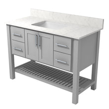 "Load image into Gallery viewer, Bertch Bath 60"" FVC60 Interlude Open Shelf Vanity in Lighthouse"