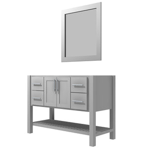 "Bertch Bath 60"" FVC60 Interlude Open Shelf Vanity in Lighthouse"
