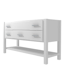 "Load image into Gallery viewer, Bertch Bath 72"" FVCD72 Interlude Open Shelf Vanity in White"