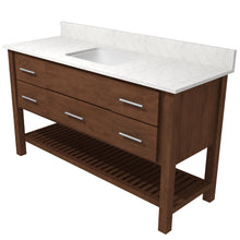 "Load image into Gallery viewer, Bertch Bath 48"" FVCD48 Interlude Open Shelf Vanity in Mocha"