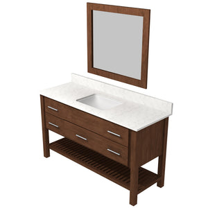 "Bertch Bath 48"" FVCD48 Interlude Open Shelf Vanity in Mocha"