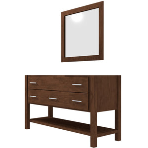 "Bertch Bath 48"" FVCD48 Interlude Open Shelf Vanity in Walnut"