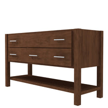 "Load image into Gallery viewer, Bertch Bath 48"" FVCD48 Interlude Open Shelf Vanity in Walnut"