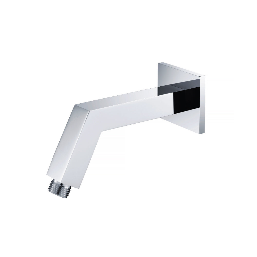 Isenberg HS1020PN   Universal Fixtures Square Shower Arm With Flange - Polished Nickel