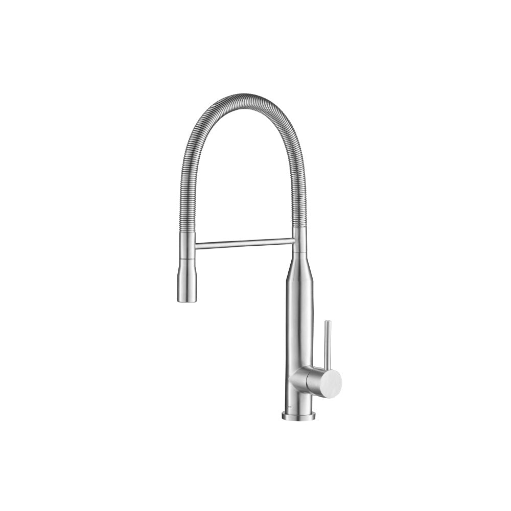 Isenberg K.1260SS   Kitchen Glatt - Semi-Professional Dual Spray Stainless Steel Kitchen Faucet With Pull Out - Stainless Steel