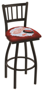 "Holland Bar Stool,NHL,Bar Stool,L018,36"",Detroit Red Wings,Logo Series"