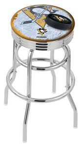 "Holland Bar Stool,NHL,Bar Stool,L7C3C,30"",Pittsburgh Penguins,Logo Series"