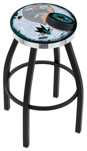 "Holland Bar Stool,NHL,Bar Stool,L8B2C,30"",San Jose Sharks,Logo Series"
