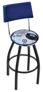 "Holland Bar Stool,NHL,Bar Stool,L8B4,25"",Winnipeg Jets,Logo Series"