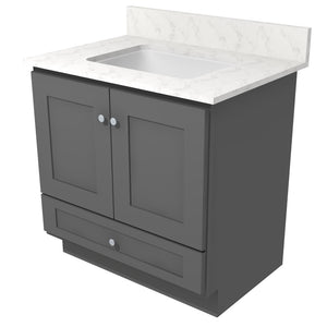 "Bertch Bath 24"" VR24T Osage Reverse Drawer Vanity in Graphite"