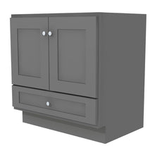 "Load image into Gallery viewer, Bertch Bath 24"" VR24T Osage Reverse Drawer Vanity in Graphite"
