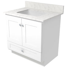 "Load image into Gallery viewer, Bertch Bath 30"" VR30T Osage Reverse Drawer Vanity in White"