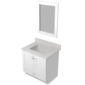 "Bertch Bath 30"" VR30T Osage Reverse Drawer Vanity in White"