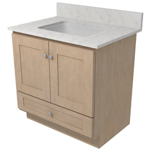 "Bertch Bath 30"" VR30T Osage Reverse Drawer Vanity in Hickory Driftwood"