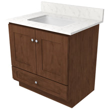 "Load image into Gallery viewer, Bertch Bath 36"" VR36T Osage Reverse Drawer Vanity in Mocha"