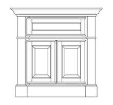 "Load image into Gallery viewer, Omega Dynasty Plantation 36"" Vanity in Porch Swing Finish"