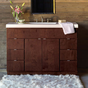 "Bertch 48"" Riverside 6 Drawer Vanity in Mocha"