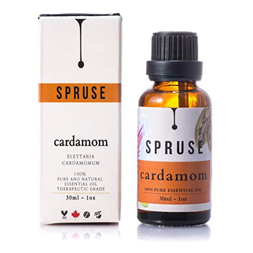 SPRUSE Cardamom Essential Oil - 30ml - 100% Natural Undiluted Therapeutic Grade - Birdly Canada