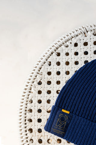 Merino Wool Beanie - Blue Quartz