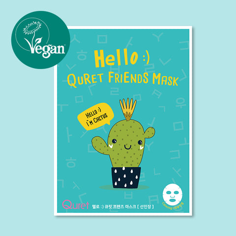 Hello :) Quret friends mask - Cactus| Hello :) Quret friends mask - Kaktus