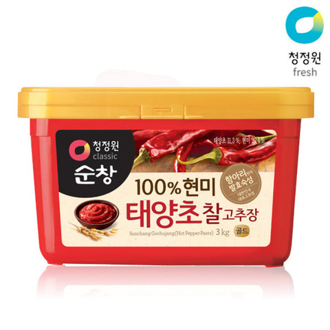 Hot pepperbean paste 100% 3kg| Chili pasta z hnědé rýže  100% 3kg|현미찰고추장
