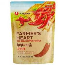 Red peper powder for Kimchi Farmers heart 1kg| Mleté chili na přípravu Kimchi Farmers heart 1 kg