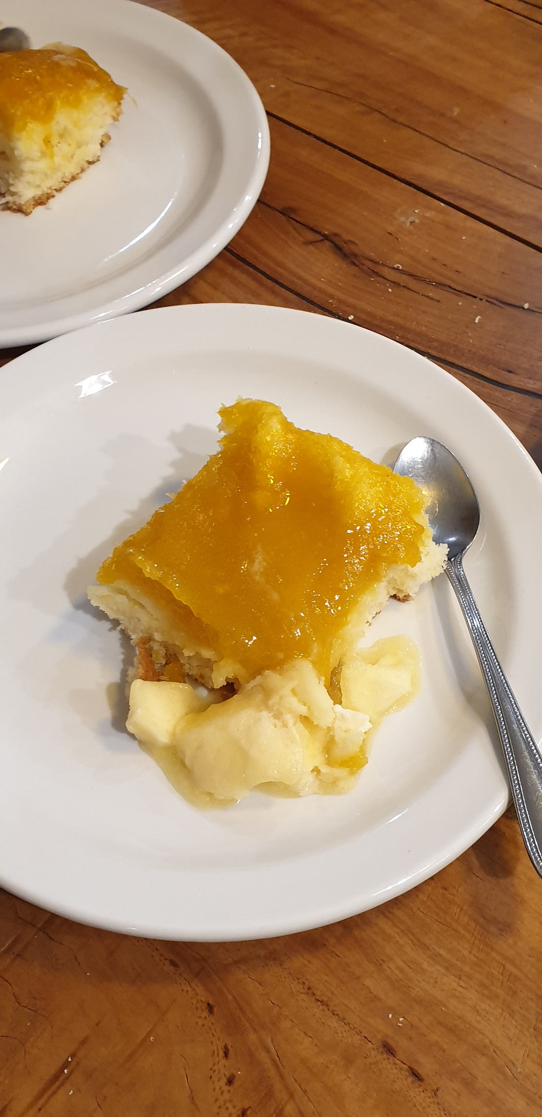 Mango & Coconut Syrup Pudding