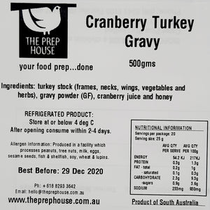 Cranberry Turkey Gravy 500gms
