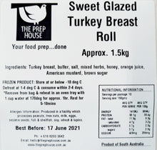 Load image into Gallery viewer, Sweet Glazed Turkey Breast 1.5kg Roll with 500gms Cranberry Gravy
