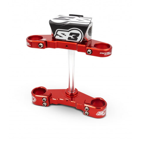 S3 Triple Clamp Beta 38mm (Red)