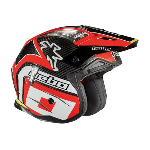 Hebo Zone 4 Carbon Fibre Helmet (Red)