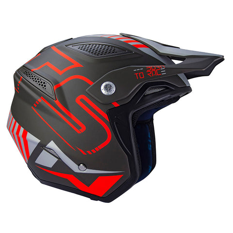 MOTS Go 2 Helmet (Black/Red)