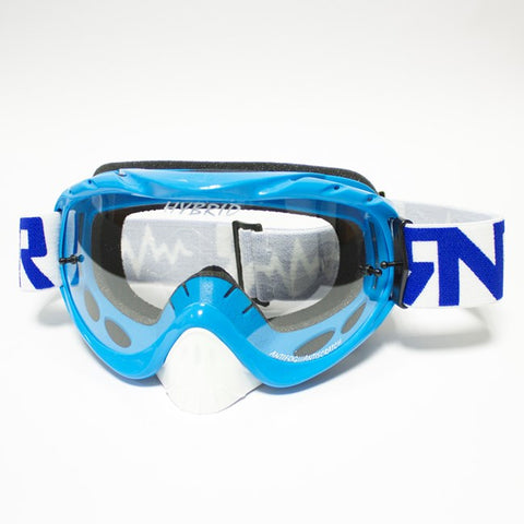 RNR Hybrid Tear Off Goggles (Blue)