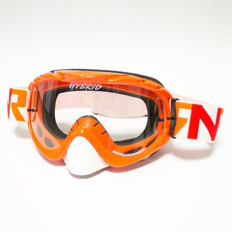 RNR Hybrid Tear Off Goggles (Orange)