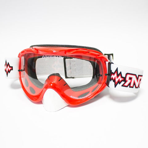 RNR Hybrid Tear Off Goggles (Red)