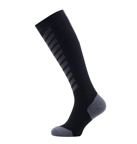 Sealskinz MTB Mid Knee Socks (Black/Charcoal)