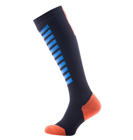 Sealskinz MTB Mid Knee Socks (Blue/Orange)