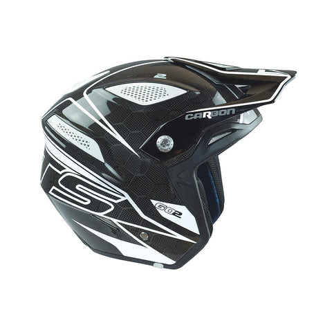 MOTS Go 2 Carbon Helmet (Black/White)
