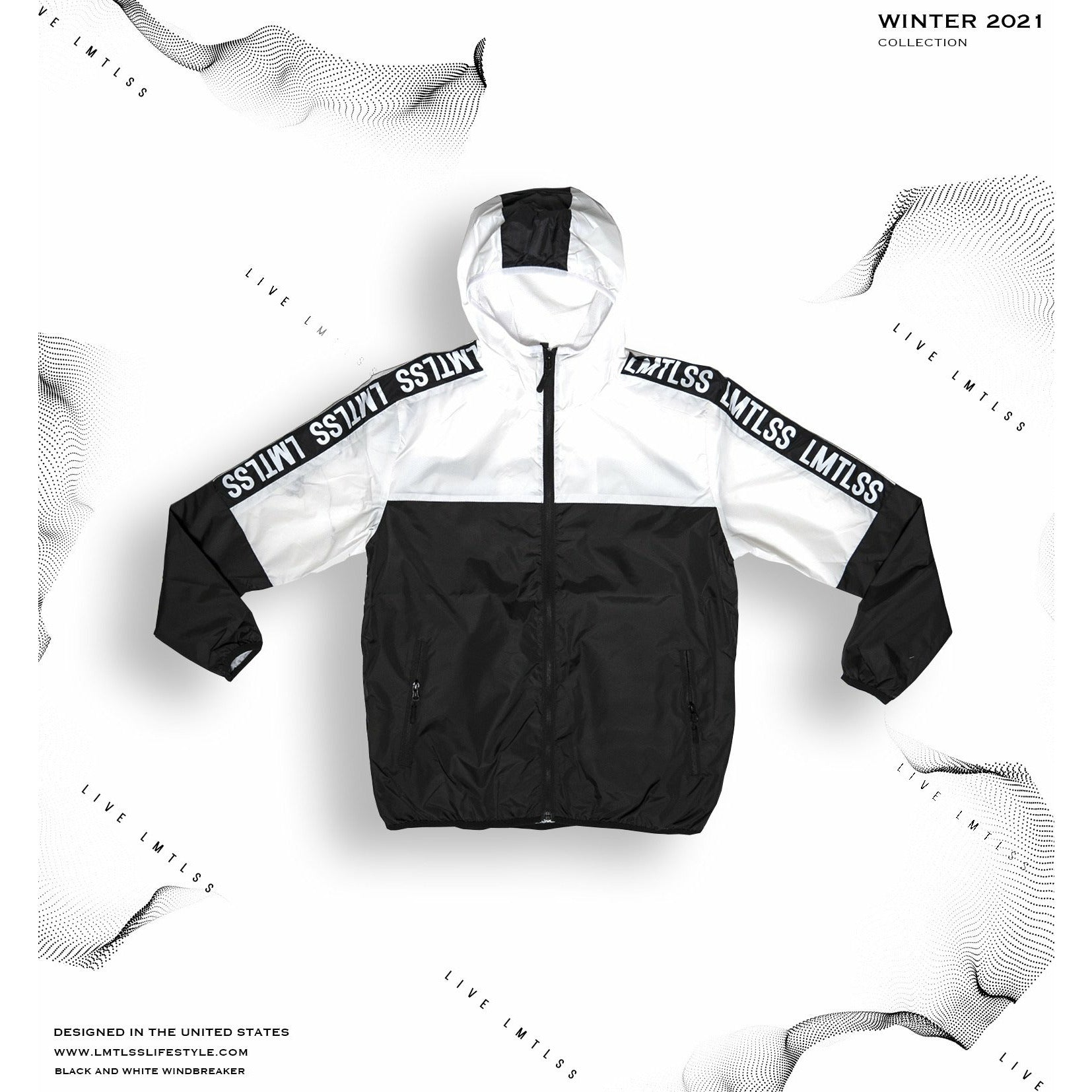 Black & White Windbreaker