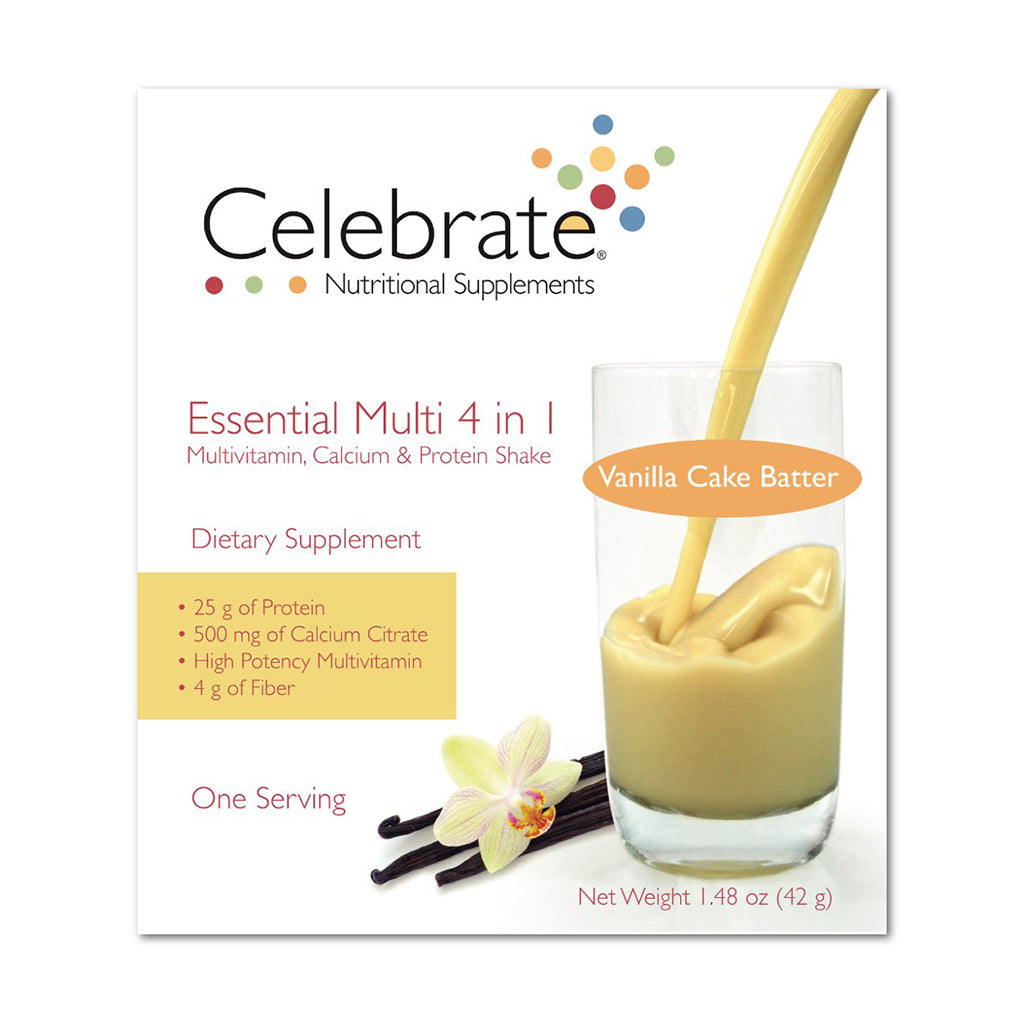 Essential Multi 4 in 1 - Multivitamin, Calcium, & Protein Shake 15 SS