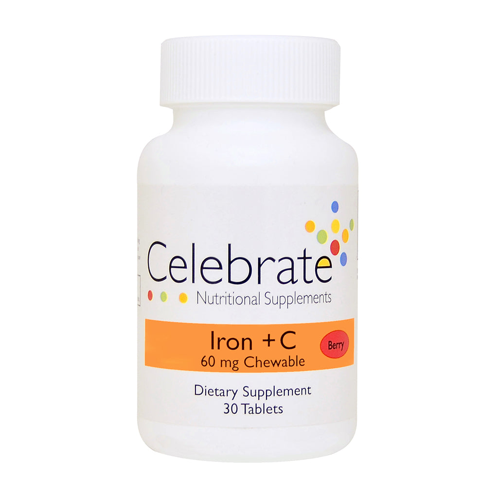 Iron+C 60mg Chewable - 30 day supply (Berry)