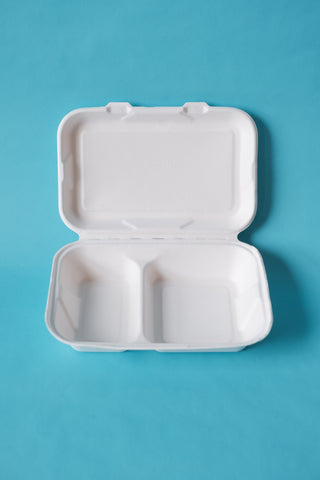 Clam Shell - Two Compartment 9x6 Inch - Case of 200