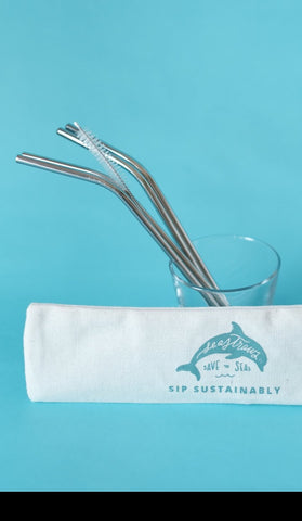 Steel Straw Reusable Four Pack - Set of 50