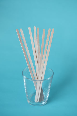 "Wrapped Birchwood Stirrers 7.5"" - Pack of 5000"