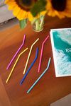Silicone Straw Reusable Six Pack - Set of 50