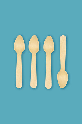 "Birchwood 3.75"" Tasting / Ice Cream Spoons - Pack of 3000"