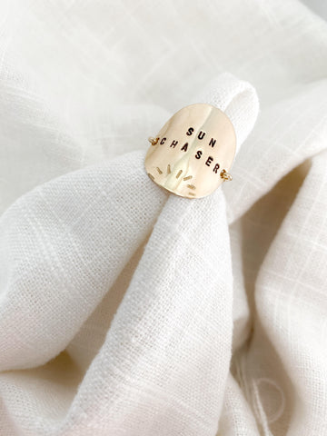 Personalized Coin Ring